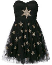 Amen - Tulle Skirt Beaded Star Applique Dress - Lyst