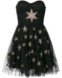 Amen - Tulle Skirt Beaded Star Applique Dress - Lyst