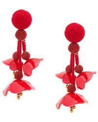 Oscar de la Renta - Plastic Poppy Earrings - Lyst
