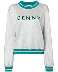 Genny - Glittered Sweatshirt - Lyst