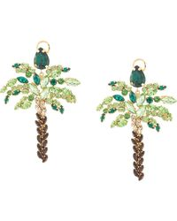Shourouk Palm Tree Earrings - Green