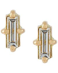 Wouters & Hendrix | 'baguette' Diamond Earrings | Lyst