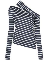 Monse - Asymmetric Striped Sweatshirt - Lyst