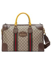 93be69d9a408 Gucci - Soft GG Supreme Duffle Bag With Web - Lyst