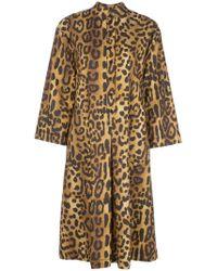 Adam Lippes - Kleid mit Print - Lyst