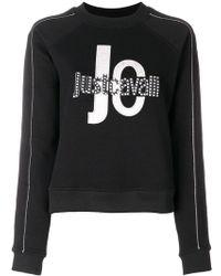 Just Cavalli - Logo Print Cropped Sweatshirt - Lyst