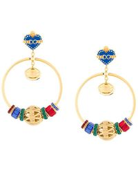 Dolce & Gabbana - Sacred Heart Hoop Earrings - Lyst