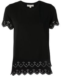 MICHAEL Michael Kors - Riveted Open Embroidery Tee - Lyst