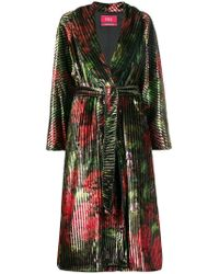 F.R.S For Restless Sleepers - Floral Print Belted Coat - Lyst
