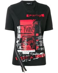 DSquared² - Twins Logo T-shirt - Lyst
