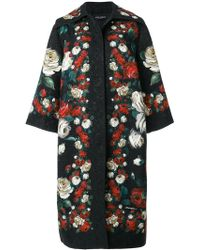 Dolce & Gabbana - Printed Brocade Coat - Lyst