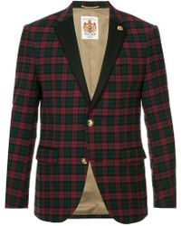 Education From Young Machines - Single Breasted Check Blazer - Lyst