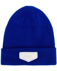 Givenchy | Logo Plaque Beanie Hat | Lyst