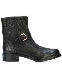 Gravati - Buckle Biker Boots - Lyst