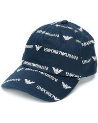 1d3990ba1b7e2 Lyst - North Sails All Over Logo Print Baseball Cap in Blue for Men