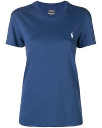 Polo Ralph Lauren - Embroidered Logo T-shirt - Lyst