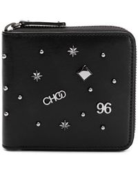 Jimmy Choo - Lawrence Studded Leather Wallet - Lyst