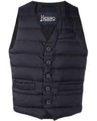 Herno - Zipped Gilet Jacket - Lyst