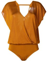 Forte Forte - Wrap Front Bodysuit - Lyst