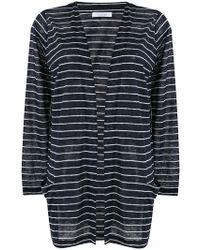 Cruciani - Striped Open Cardigan - Lyst