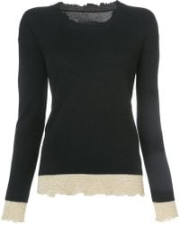 RTA - Raw Edge Knitted Top - Lyst