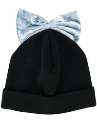 Federica Moretti - Bow Embroidered Beanie Hat - Lyst