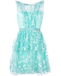 Si-jay - Floral-embroidered Tulle Dress - Lyst