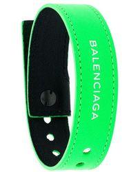 Balenciaga - Logo Bracelet - Lyst