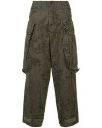 Julius - Camouflage Tapered Trousers - Lyst