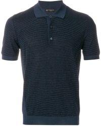 Corneliani | Striped Knitted Polo Shirt | Lyst