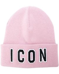 DSquared² - Icon Logo Beanie Hat - Lyst
