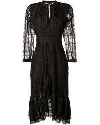 Just Cavalli - Geometric Pattern Midi Dress - Lyst