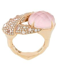 Stephen Webster - 18kt Rose Gold, Opal And Diamond Crab Pincer Crystal Haze Ring - Lyst