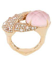 Stephen Webster - 18kt Rose Gold, Opal And Diamond Crab Pincer Crystal Haze Ring - Lyst