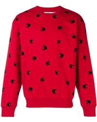 McQ - Swallow Flocked Sweatshirt - Lyst