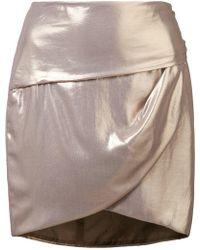 Michelle Mason - Gathered Mini Skirt - Lyst