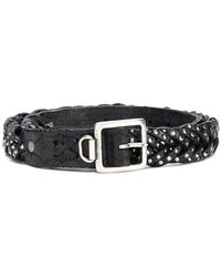 Golden Goose Deluxe Brand - Plaited Stud Detail Belt - Lyst