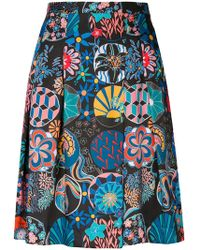 PS by Paul Smith - Mixed Print Pleated Skirt - Lyst