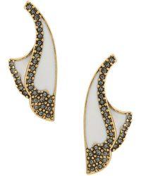 Camila Klein - Enamelled Petal Earrings - Lyst