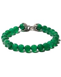 David Yurman - Spiritual Beads Green Onyx Bracelet - Lyst