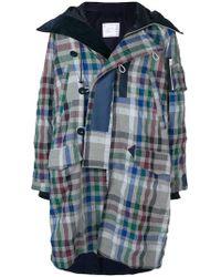 Sacai - Checked Coat - Lyst