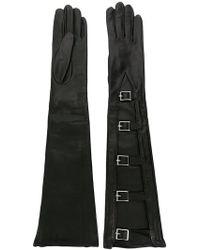 Manokhi - Buckled Long Gloves - Lyst