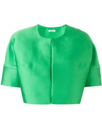 P.A.R.O.S.H. - Short Sleeved Crop Length Jacket - Lyst