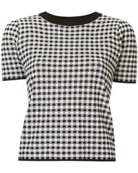 G.v.g.v - Gingham Checked T-shirt - Lyst