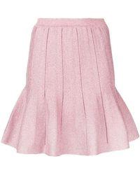 Alberta Ferretti - Ruffled Mini Skirt - Lyst