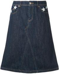 Guild Prime - Star Patch Denim Skirt - Lyst
