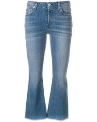 MICHAEL Michael Kors | Cropped Mid-rise Flared Jeans | Lyst