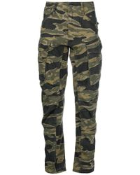 G-Star RAW - Camouflage Cargo Trousers - Lyst