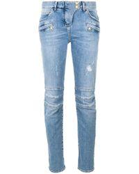 Balmain - Jeans Biker Vestibilità Slim - Lyst