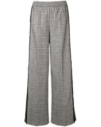 8pm - Checked Sports Trousers - Lyst